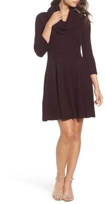 Eliza J Cowl Neck Sweater Dress