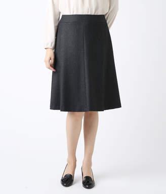 NEWYORKER women's 【アウトレット】【ストレッチ】ヘリンボンフレアスカート