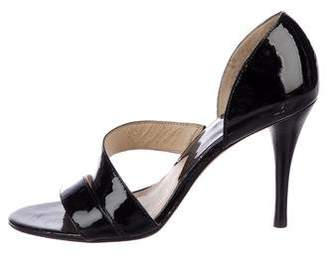MICHAEL Michael Kors Patent Leather Round-Toe Sandals