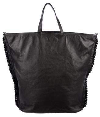Giorgio Armani Leather Chain Tote