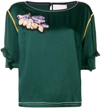 Peter Pilotto sequin embellished blouse