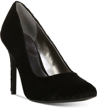 Carlos by Carlos Santana Posy Pointed-Toe Velvet Pumps $89 thestylecure.com