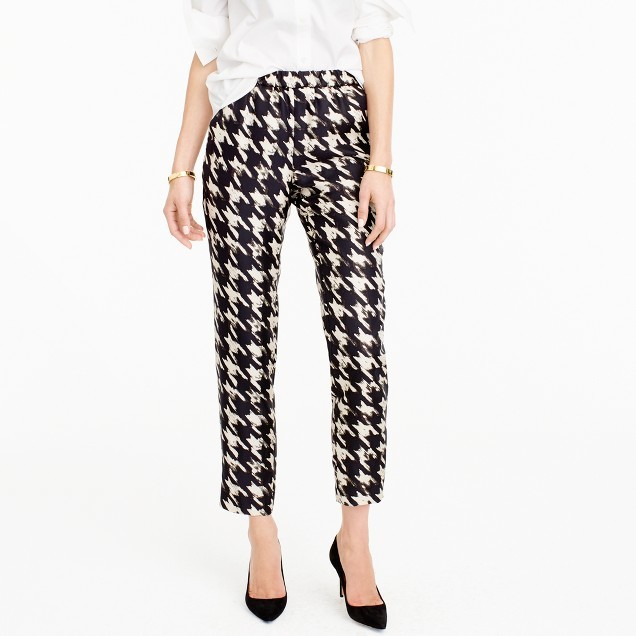 J.Crew Silk twill pant in wolfstooth