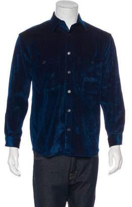 Umit Benan Corduroy Velvet Shirt