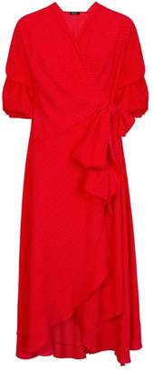 Dorothy Perkins Womens *Girls On Film Red Spotted Wrap Dress