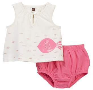 Tea Collection Mallacoota Top & Bloomer Set (Baby Girls)