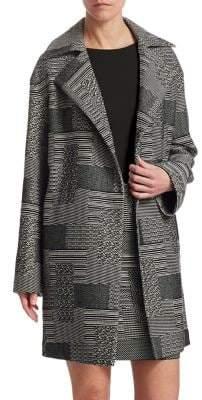 Akris Punto Patchwork Jacquard Coat