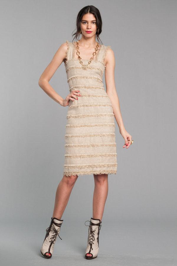 Tweed Banded Tank Dress