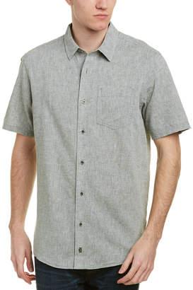Ike Behar Ike By Linen-Blend Woven Shirt