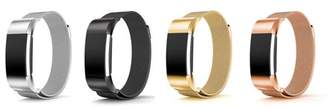Fitbit 2 Pack Viugreum For Charge 2 Bands, Stainless Steel Milanese Loop Metal Replacement Accessories Bracelet Strap for Charge 2 Smartwatch Fitness Wristband Gold + Black