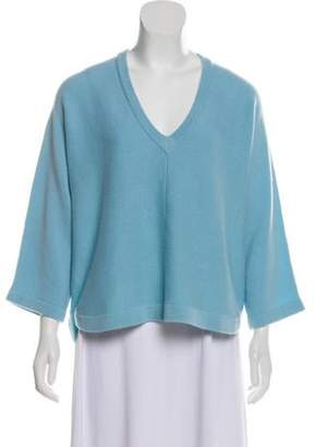 Allude Wool & Cashmere-Blend Medium-Weight Sweater blue Wool & Cashmere-Blend Medium-Weight Sweater