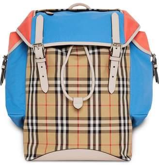 Burberry check panel Ranger backpack