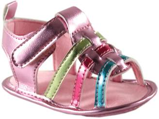 Luvable Friends Girl's Metallic Sandal (Infant)