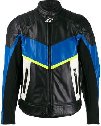 Diesel Astars-Ldue leather biker jacket