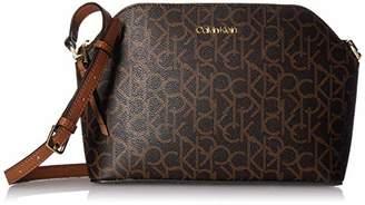 f30243fdb4 Calvin Klein Mercy Signature Monogram Key Item Top Zip Crossbody