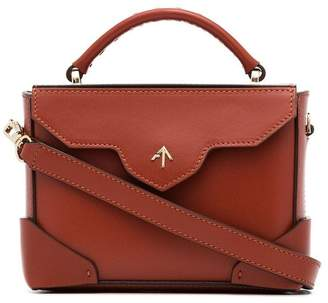 Atelier Manu red micro bold leather crossbody bag