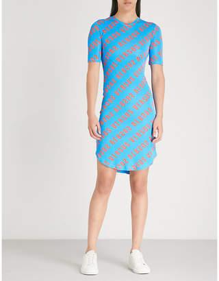Versace Logo-print jersey dress
