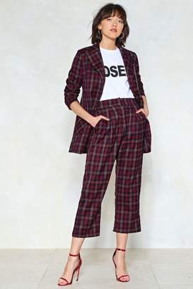 Nasty Gal Mind Your Business Check Pants