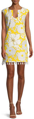 Trina Turk Always Sunny Lura Tassel-Trim Mini Dress