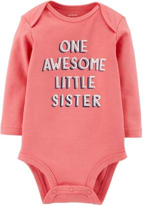 "Carter's Baby Girl One Awesome Little Sister"" Bodysuit"