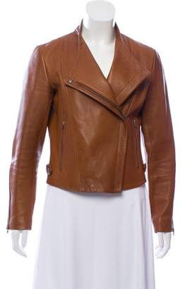 Theory Leather Fitted Jacket