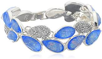Kenneth Cole New York Power of The Flower and Crystal Stone Pave Bracelet