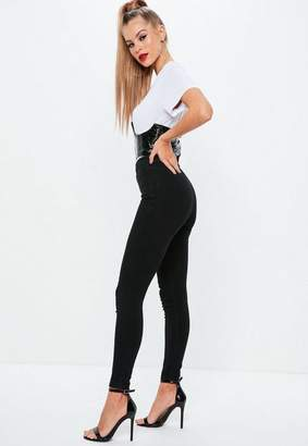 Missguided Black Outlaw Super Stretch Skinny Jeans