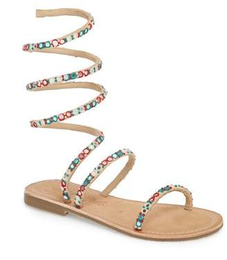 Free People Havana Embellished Wraparound Gladiator Sandal (Women)