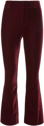 Derek Lam 10 Crosby Velvet Crop Flare Trousers
