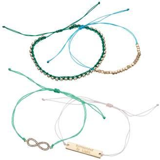 "Loli Bijoux LOLI BIJOUX Breast Cancer Awareness ""Surrounded By Light"" Cord Bracelet Set"