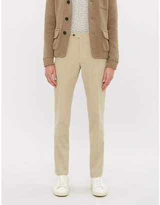 Corneliani Tailored-fit cotton-twill straight-leg chinos