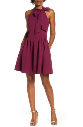 Vince Camuto Kors Crepe Fit & Flare Minidress