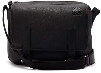 Loewe Military Xs Grained Leather Messenger Bag - Mens - Black