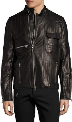 Diesel Black Gold Men's Lunt Leather Jacket