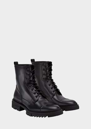 Versace Tank Derby Leather Boots