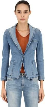 L'Autre Chose Washed Cotton Denim Jacket