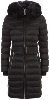 Burberry Belted Mid-Length Puffer Coat