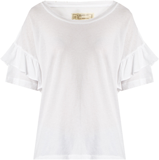 CURRENT/ELLIOTT The Ruffle Roadie cotton T-shirt $155 thestylecure.com