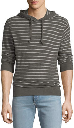 Faherty Men's Striped Slub Hoodie