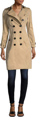 Burberry Women's Cotton Dropped Seam Double Breasted Jacket