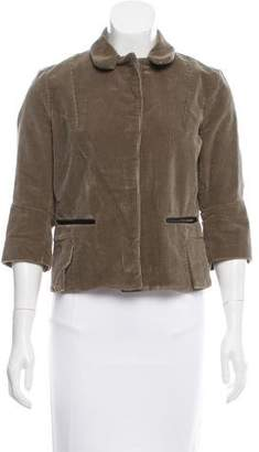 Marni Leather-Trimmed Corduroy Jacket