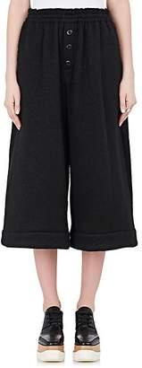Yohji Yamamoto Regulation Women's Wool Drop-Rise Wide-Leg Pants - Black