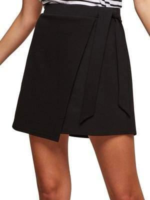Miss Selfridge Tie Mini Skirt