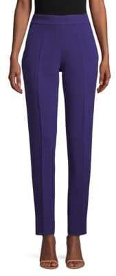 Oscar de la Renta Classic Pleated Silk Pants