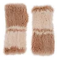 Barneys New York Women's Knitted Mink Fur Fingerless Mittens - Camel