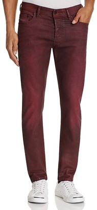 Diesel Tepphar Slim Fit Jeans in Burgundy $228 thestylecure.com