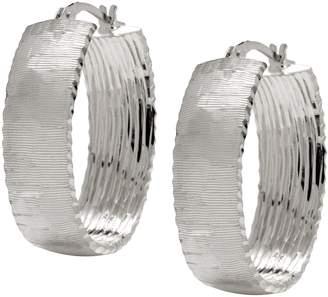 Arte D'oro Arte d'Oro Satin Finish Oval Hoop Earrings 18KGold, 8.20g