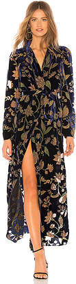 BCBGMAXAZRIA Velvet Wrap Dress