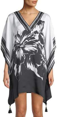 Tommy Bahama Fractured Striped V-Neck Coverup Tunic