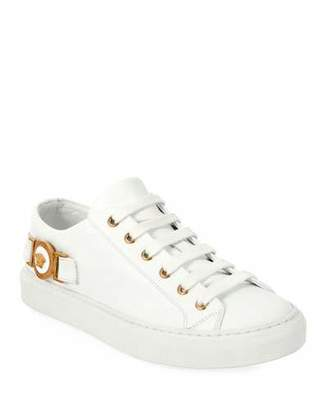 Versace Medusa Calf Leather Low-Top Sneakers